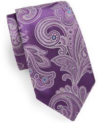Samuelsohn - Large Paisley Silk Tie - Lyst