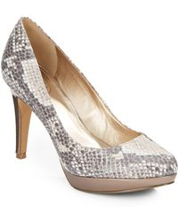 Circa Joan & David - 'pearly' Snake-embossed Faux Leather Platform Pumps - Lyst