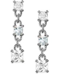 Judith Jack - Blue Topaz & Sterling Silver Drop Earrings - Lyst