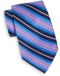 XMI Platinum - Purple Stripe Silk Tie - Lyst