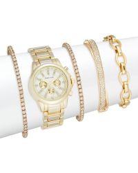 Adrienne Vittadini - Glitz 5-piece Bracelet Watch Set/goldtone - Lyst