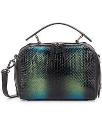 DANNIJO - Ricci Mini Snake-embossed Leather Crossbody Bag - Lyst