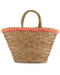 Saks Fifth Avenue   Seagrass Tote   Lyst