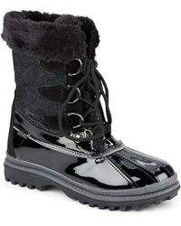 Khombu - Bryce Women Round Toe Synthetic Blue Snow Boot - Lyst