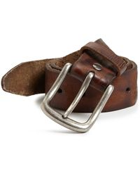 Leather Island By Bill Lavin - Distressed Leather Belt - Lyst