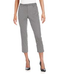 Andrea Jovine - Geo-print Stretch Cotton Cropped Pants - Lyst