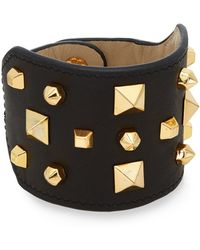 Vince Camuto - Studded Leather Cuff Bracelet - Lyst