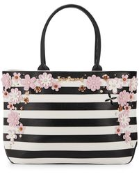 Betsey Johnson - In Bloom Striped Tote - Lyst