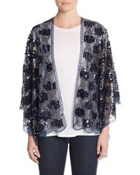 Cara - Sheer Sequined Wrap - Lyst