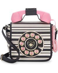 Betsey Johnson - Hotline Phone Crossbody Bag - Lyst