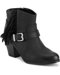 Circus by Sam Edelman - Leah Fringed Almond Toe Ankle Boots - Lyst