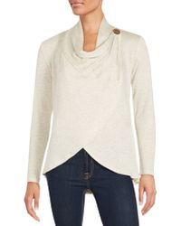 Bobeau - Asymmetrical Hem Wrap Top - Lyst