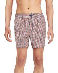 Brioni - Check Swim Shorts - Lyst