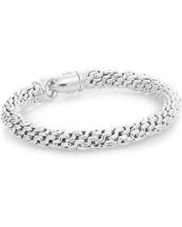 Chimento - 18k White Gold Braided Bracelet - Lyst