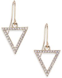ABS By Allen Schwartz - Triangle Pavé Earrings - Lyst