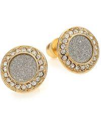 ABS By Allen Schwartz - Gold Coast Glitter Halo Stud Earrings - Lyst