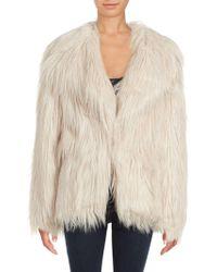 C&C California - Solid Faux Fur Coat - Lyst