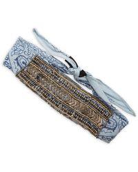 Steve Madden - Embellished Printed Headwrap - Lyst