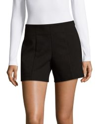 Saks Fifth Avenue Black - Solid Powerstretch Shorts - Lyst