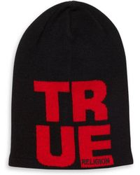 True Religion - Blended Cashmere Beanie - Lyst