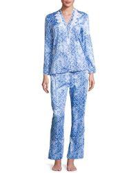 Oscar de la Renta - Printed Cotton Sateen Pyjama Set - Lyst