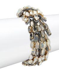 Tataborello - Crystal Studded Bracelet - Lyst