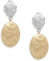 Marco Bicego - 18k Gold Embossed Dangle & Drop Earrings - Lyst