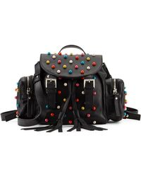 RED Valentino - Beaded Leather Backpack - Lyst