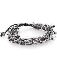 Chan Luu - Crystal & Sterling Silver Multi-row Beaded Bracelet - Lyst