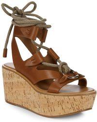 Frye - Dahlia Robe Wedge Sandals - Lyst
