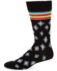 Bugatchi - Striped Diamond Socks - Lyst