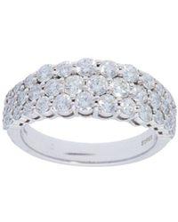 Nephora - Pavé Diamond White Gold Ring - Lyst