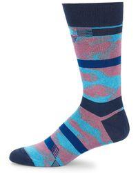 Bugatchi - Printed Crew Socks - Lyst