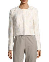 Basler - Textured Long-sleeve Jacket - Lyst