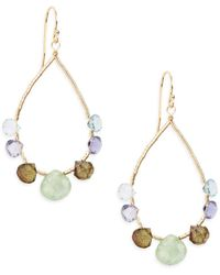 Eva Hanusova - Mixed Stone Teardrop Earrings - Lyst