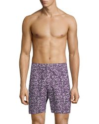 """Onia - Calder 7.5"""" Abstract-patterned Swim Trunks - Lyst"""
