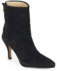 Adrienne Vittadini - Jael Leather Cuffed Ankle Boots - Lyst