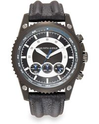 Saks Fifth Avenue - Gunmetal-finished Stainless Steel Chronograph Strap Watch - Lyst