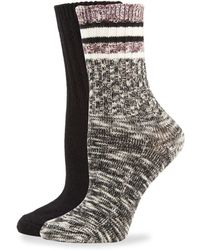 Hue - Two-piece Space Dye Boot Sock Set - Lyst
