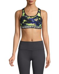 Superdry - Printed Sports Bra - Lyst