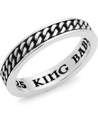 King Baby Studio - Sterling Silver Textured Ring - Lyst