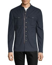 John Varvatos - Front Zip Cotton Jacket - Lyst