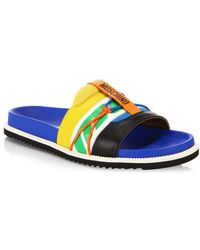 Moschino - Multicolored Leather Sandals - Lyst