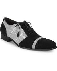 Mezlan - Plaid Leather Oxfords - Lyst
