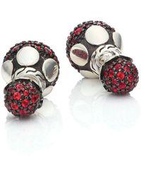 John Hardy - Dot Red Sapphire & Sterling Silver Double-sided Stud Earrings - Lyst