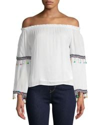 Raga - Coconut Off-the-shoulder Blouse - Lyst
