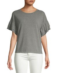Saks Fifth Avenue - Ruffle Short-sleeve Top - Lyst