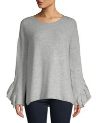 French Connection - Emilde Ruffled Knit Pullover - Lyst