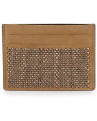 Giuseppe Zanotti - Nailhead Embellished Leather Card Holder - Lyst