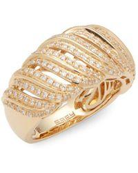 Effy - Diamond And 14k Yellow Gold Ring - Lyst